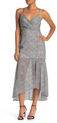 4SI3NNA the Label Animal Print Crossback Maxi Dress