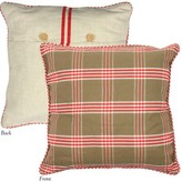At Home Throw Pillow Cover Heritage Lace Color: Natural/Red