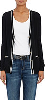 Barneys New York Women's Tipped Cashmere Cardigan-BLACK