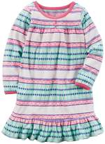 Carter's Girls 4-14 Patterned Ruffle Hem Microfleece Dorm Nightgown