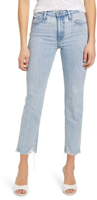 AG Jeans Isabelle High Waist Ankle Straight Leg Jeans