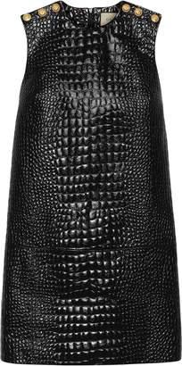 Gucci Crocodile print leather dress