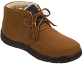 Dearfoams Men's Microfiber Suede Boot Slipper with Memory Foam