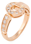 Bulgari Vintage 18K Rose Gold & 0.25 Total Ct. Pave Diamond Ring