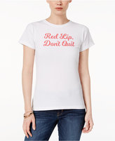 Kid Dangerous Cotton Red Lip Don't Quit Graphic T-Shirt