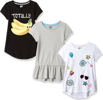 Spotted Zebra Toddler Girls' 3-Pack Short-Sleeve Tunic Tops