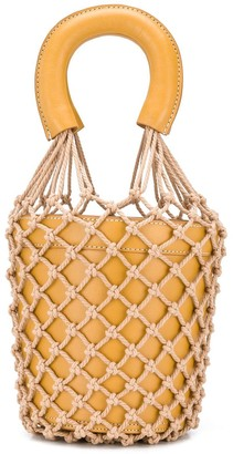 STAUD rope knit bucket bag