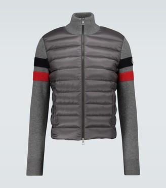 Moncler Knitted and technical cardigan