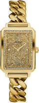 GUESS Women's Gold-Tone Stainless Steel Chain Link Bracelet Watch 28mm U0896L2