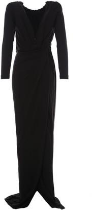 DSQUARED2 Deep-V Halter-Neck Maxi Dress