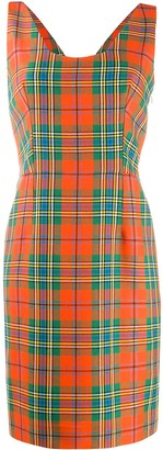 Christian Dior Pre Owned 2000s tartan short dress