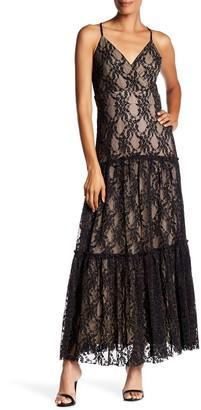 Taylor Metallic Lace Maxi Dress