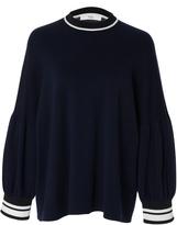 Tibi Wool Puff Sleeve Sweater