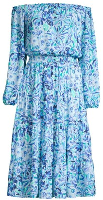 Lilly Pulitzer Jennie Printed Off-The-Shoulder Midi Dress