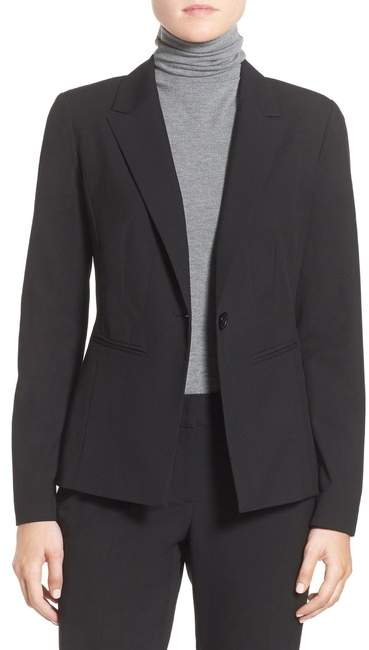 Ela One Button Stretch Suit Jacket (Petite)