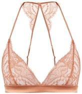 Fleur of England Whiskey Boudoir lace triangle bra