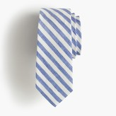 J.Crew Boys' linen-cotton tie in retro stripe