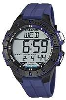 Calypso Unisex Digital Watch with LCD Dial Digital Display and Blue Plastic Strap K5607/2