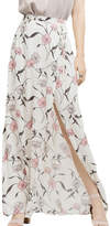 Blu Pepper Floral Maxi Slit Skirt