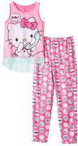 Hello Kitty Girls 4-12 Phone Pajama Set