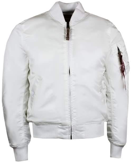 Alpha Industries Ma1 Vf 59 White Vintage Fit Bomber Jacket