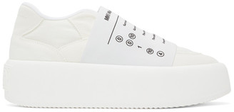 MM6 MAISON MARGIELA White Logo Platform Sneakers
