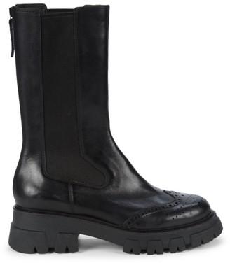 Ash Lennox Lug-Sole Leather Brogue Boots
