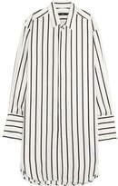 Bassike Oversized Striped Poplin Shirt - White