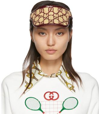 Gucci Burgundy Snakeskin GG Visor