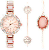 INC International Concepts Women's Rose Gold-Tone Bracelet Watch & Bracelets Set 30mm IN008RGBL, Only at Macy's