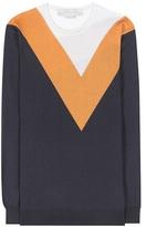 Stella McCartney Santi Striped Wool And Silk-blend Sweater
