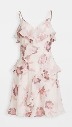 Rebecca Taylor Sleeveless Metallic Fleur Dress