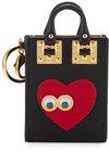 sophie hulme albion heart eyes tote card holder black