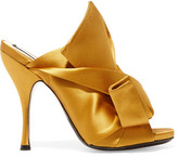 No.21 No. 21 - Knotted Satin Mules - Mustard
