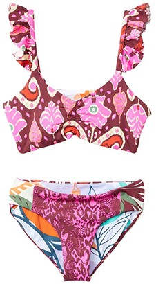 Maaji Kids Guadalupe Bikini Set (Little Kids/Big Kids) (Pink) Girl's Swimwear Sets