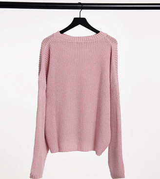 In The Style Plus x Jac Jossa knitted jumper in pink