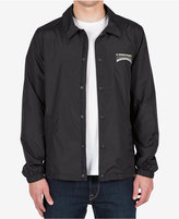 Volcom Men's Fairmont Graphic-Print Logo Coaches Jacket