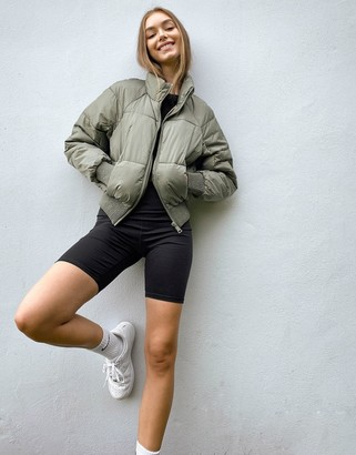 Pimkie puffer jacket in khaki
