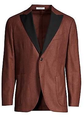 Boglioli Men's Flannel Wool Dinner Jacket