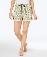 Hue Avocado-Print Knit Pajama Shorts