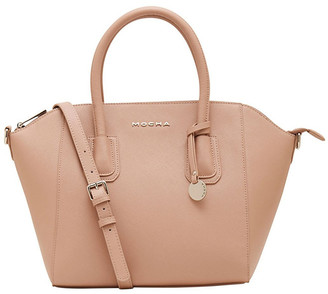 Mocha Wendy Leather Bag - Taupe