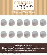 Crucial Vacuum 12 Capresso 4440.90 Charcoal Coffee Filters, Fits TEAM # 454, Designed & Engineered by Crucial Coffee