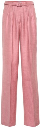 Gabriela Hearst Vargas high-rise wide-leg pants