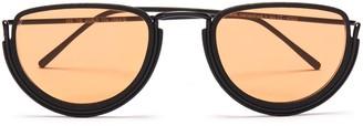 Wires Glasses Half Moon - Black, Black & Orange