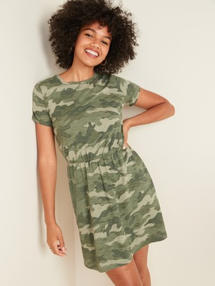 Old Navy Waist-Defined Slub-Knit T-Shirt Dress for Women