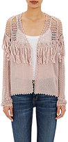 Ulla Johnson Women's Fringed Crochet Clarice Cardigan-PINK
