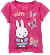Children's Apparel Network Miffy Pink Cap-Sleeve Top - Toddler