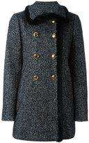Dolce & Gabbana tweed A-line coat