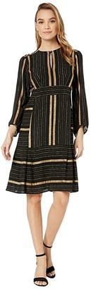 Nanette Lepore Boho Stripe Dress (Gold Multi) Women's Dress