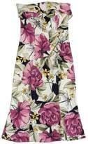 Karen Millen Cream Large Floral Print Strapless Dress